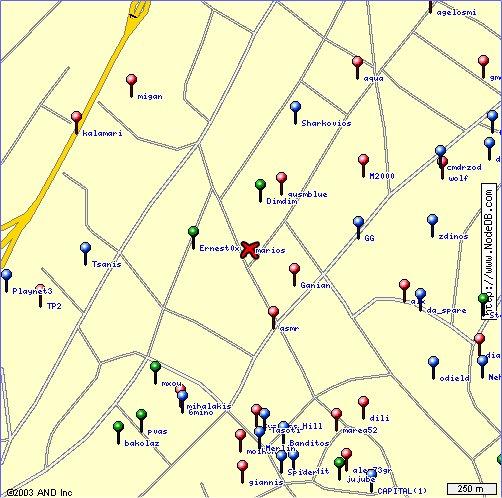 Η περιοχή γύρω από τον Ernest0x